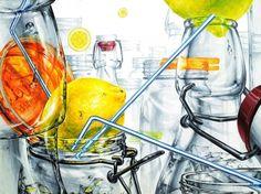 안녕하세요.송파 넥스트미술학원입니다. 오늘은 저희 넥스트미술학원에서유리병, 빨대, 레몬을 주제로 한 ...