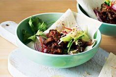 Try these spicy satay beef wraps for an easy crowd-pleasing dinner.
