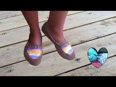Zapatillas tejidas a crochet super facil para todas las tallas parte 1/2 - YouTube