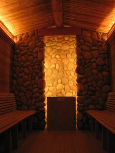 Sauna Sauna Room, Saunas, Wood Ideas, Saturday Night, Bathrooms, Table Lamp, Awesome, House, Design