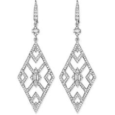 Penny Preville Diamond Deco Cutout Earrings ($14,155) ❤ liked on Polyvore featuring jewelry, earrings, 18k earrings, 18 karat gold earrings, french hook earrings, 18k diamond earrings and emerald cut diamond earrings