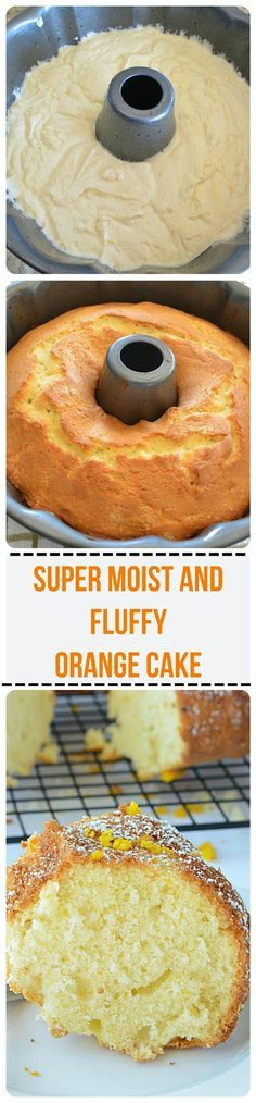 Orange Cake Recipe ~ Incredibly moist orange cake recipe bursting with citrus orange flavor and is soft and fluffy as a cloud! Baking Recipes, Dessert Recipes, Orange Recipes Baking, Donut Recipes, Fruit Recipes, Delicious Desserts, Yummy Food, Easy Desserts, Bunt Cakes