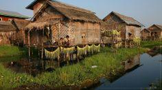 "Inle Lake, Myanmar, ""floating"" village  - http://earth66.com/village/inle-lake-myanmar-floating-village/"