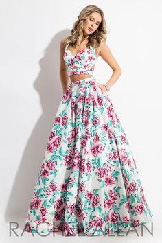 Rachel Allan 7510 White/Pink Two Piece Prom Dress