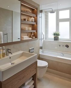 The family bathroom at our Notting Hill project in warm tones of oak and polished plaster House Bathroom, Bathrooms Remodel, Family Bathroom, Bathroom Design Inspiration, Bathroom Interior Design, Simple Bathroom Remodel, Bathroom Renovations, Small Bathroom Decor, Bathroom Layout