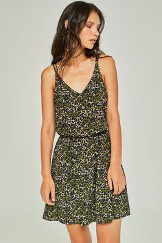 064d4b16c Vestido estampado camuflaje - Vestidos - Rebajas mujer