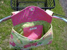 Bag Patterns To Sew, Sewing Patterns Free, Bike Seat Cover, Bicycle Bag, Pouch Pattern, Sewing Lessons, Sewing Class, Sewing Toys, Kids Bags