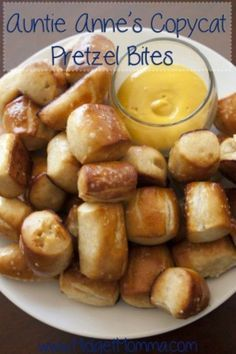 Everyone loves Auntie Anne's Pretzels. Now you can make them at home! This copycat Auntie Anne's Soft Pretzel bites will become your new weekend family snack.