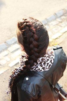 hair, long hair, shaved hair, mohawk, dutch braid, brunette, fall, autumn, sweater weather, London fashion