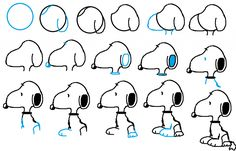 How to draw Snoopy.                                                                                                                                                      More