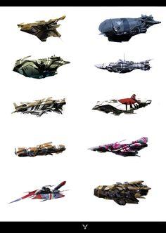 SPACESHIP DESIGNS by dasAdam.deviantart.com