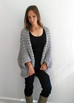 4447fda60c7dfa Easy Sweater PATTERN Shrug Pattern Beginner Sweater Knit