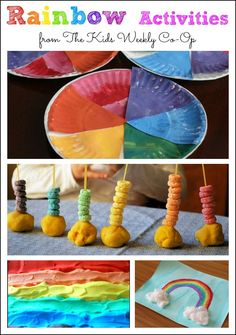 Rainbow Activities from The Kids Weekly Co-Op - Mess for Less