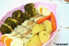 Tranches de pescada e legumes cozidos a vapor (receita Bimby)