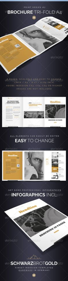 Brochure Tri-Fold A4 Series 7 .This image is available on GraphicRiver.      If you like this, watch out the other Items of this Series    Brochure Tri-Fold A4 Series 7 InDesign CS3 / CS4 / CS5  Hello! Thank you very much for purchasing this