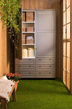 Kök med BODBYN grå lådfronter och luckor Ikea