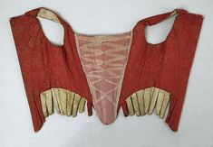 Corset Date: 18th century Culture: American or European Medium: [no medium available] Dimensions: [no dimensions available] Credit Line: Gift of Mr. Lee Simonson, 1939 Accession Number: C.I.39.13.207