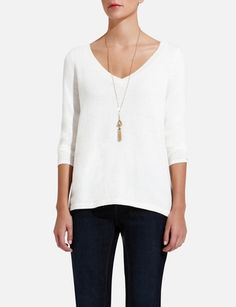Cotton Cashmere Boxy Sweater from THELIMITED.com