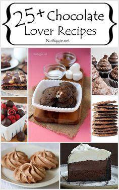 25+ Chocolate Lover Recipes - NoBiggie.net