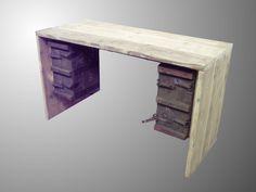 scrapwood steigerhout bureau
