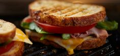 Kraft H.T Sandwich (Ham, Asparagus and Tomato) Recipe - Kraft Recipes Kraft Recipes, Kraft Foods, Asparagus Tomato Recipe, Cooked Asparagus, Asparagus Spears, Fresh Asparagus, Grilled Asparagus, Grilled Cheese Recipes, Soup And Sandwich