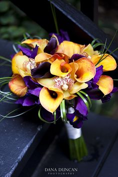 Stunning Calla Lily, Iris and Orchid bouquet