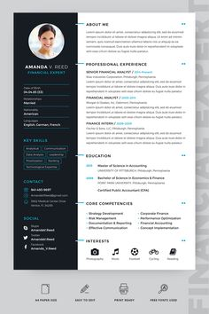 Amanda V Reed Financial Expert Resume Template ---CLICK IMAGE FOR MORE--- resume how to write a resume resume tips resume examples for student Modern Resume Template, Resume Design Template, Cv Template, Resume Templates, Teacher Resume Template, Manager Resume, Student Resume, Professional Resume, Basic Resume