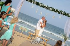 First Dance on the beach after an Ocean City MD wedding ceremony by Rox:  https://www.roxbeachweddings.com/