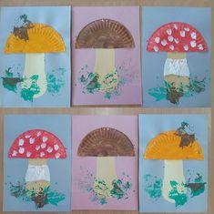 Nápady na tvoření s dětmi Mushroom Crafts, Leaf Crafts, Kindergarten Crafts, Autumn Crafts, Creative Kids, Art Activities, Diy Crafts For Kids, Kids And Parenting, Art Lessons