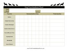 Printable Dog Shot Record Forms  Dog Shot Record