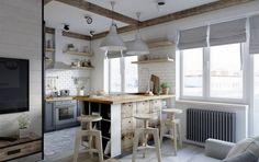 Кухня в скандинавском стиле: Кухни в Скандинавский. Автор - Elena Arsentyeva