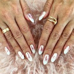 Ombre chrome nails