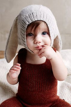 i don't care how hipster it is. kid bunny hats are unbearably cute.