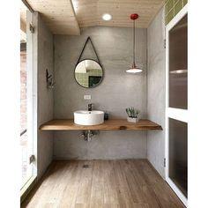 "@mcmhouse's photo: ""Timber + grey. #bathroominspiration"""