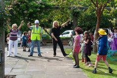 Queens Park Family Funday Entertaining, Park, Queens, People, Parks, People Illustration, Funny, Thea Queen, Folk