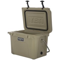 The YETI Roadie 20-qt. cooler stores 18 cans plus ice