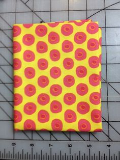 Dena Designs - The Painted Garden - Fat Quarter - Posey in Yellow PWDF140, Sunshine Yellow with little pink+orange circles by DoeStreetFabrics on Etsy