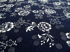 Tradičné vzory modrotlače.