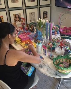 Easter in Calabasas! It's no secret that the Kardashian kids lead a glamorous life, but from the looks of Kim Kardashian's latest Instagram post, they're about to have a spectacular Easter Sunday.