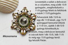 Mézesmama gyöngyei: Patán virág minta
