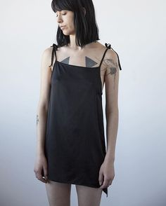 Pure silk charmeuse nightdress with silk bias adjustable straps, also available in ivory and sheer black silk chiffon. #ovate