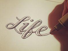 Life type design hand lettering