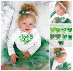 St Patrick's Day Baby Girl Toddler Heart by ChicCoutureBoutique, $15.50