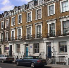 The London home of writer and poet Dylan Thomas, 54 Delancy Street, NW1