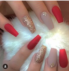 The Deep Winter Nail Art designs are perfect for I .- The Deep Winter Nail Art designs are perfect for I hope you can inspire - Solid Color Nails, Nail Colors, Prom Nails, Long Nails, Short Nails, Fall Nail Art Designs, Acrylic Nail Designs, Red Nail Designs, Acrylic Art