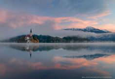Autumn morning - ...at Lake Bled, Slovenia...