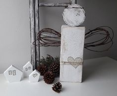 Rustic Wooden Angel - Christmas Home Decor