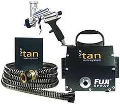 Fuji Spray has been the leading manufacturer of specialized Spray Tanning HVLP Turbine Systems for 7 years now. The Fuji HVLP Tan Mini System #3000M is compact and perfect for mobile tanning. #spraytan #airbrushtan #spraytanning