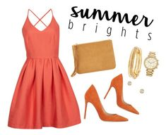 """""""orange inspiration"""" by anichch ❤ liked on Polyvore featuring Forever 21, Girls On Film, Gianvito Rossi, MICHAEL Michael Kors, Kate Spade, Tiffany & Co., michaelkors, Tiffany, rossi and summerbrights"""