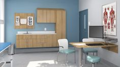 From hospitals to long-term care facilities and clinics of all types, Harmoniä collection by Lacasse offers modular healthcare furniture solutions for nursing stations, patient rooms, waiting areas, etc.
